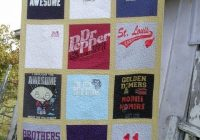 how to make a t shirt quilt feltmagnet Cozy T Shirt Quilt Pattern Queen Gallery