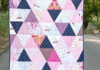 how to make a triangle quilt on the polka dot chair blog Cool Quilt Patterns Using Triangles