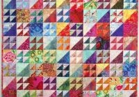 ideasexuberant color quilts made with triangles Cool Quilts With Triangles