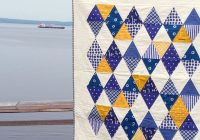 indigo triangle ba quilt cluck cluck sew Interesting Triangle Baby Quilt Inspirations