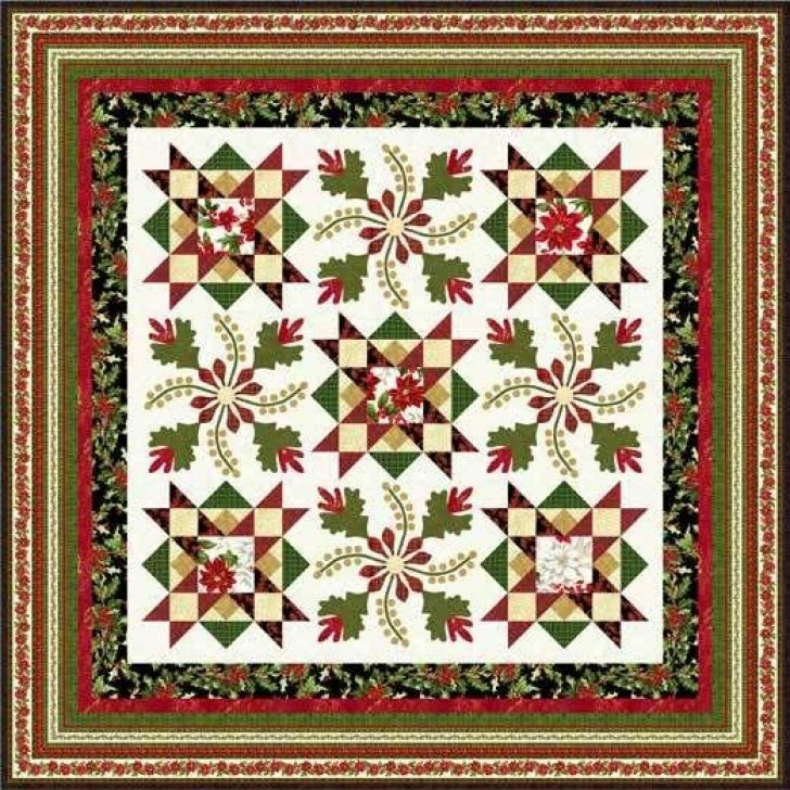 Permalink to 11 Stylish Poinsettia Quilt Pattern Inspirations