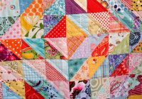 Interesting finished value quilt quilts half square triangle quilts 10 Beautiful Half Triangle Quilt Inspirations