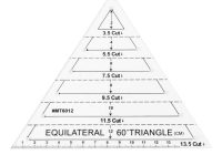Interesting high quality 60 degree equilateral f triangle quilting ruler 9 Cozy Triangle Quilt Ruler Gallery