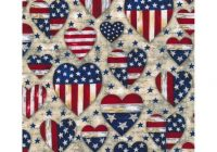 Interesting holiday inspirations patriotic fabric patriotic hearts 10   Patriotic Quilt Fabric Inspiration Gallery