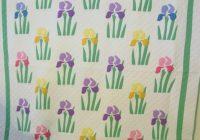 iris applique quilt mint mountain mist sold cindy Interesting Mountain Mist Quilt Patterns Gallery