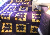 katies quilts and crafts crown royal quilt finished Modern Crown Royal Quilt Patterns Gallery