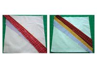 learn how to make string quilts Elegant String Pieced Rag Quilt Pattern