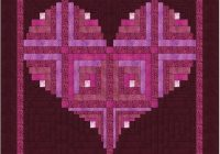 log cabin heart quilt pattern valentine love wall hanging 40 x 40 Unique Log Cabin Heart Quilt Pattern