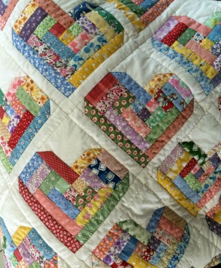 Permalink to Unique Log Cabin Heart Quilt Pattern