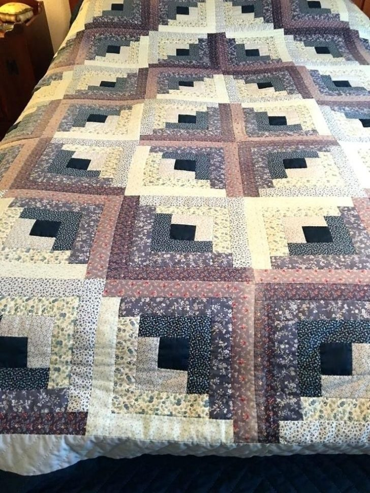 Permalink to Cozy Log Cabin Quilt Pattern History