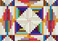 log cabin quilt pattern variations 7×7 arrangement showing Unique Log Cabin Quilt Pattern Variations Gallery