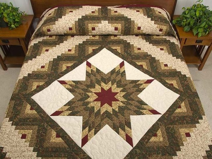 Permalink to Stylish Lone Star Log Cabin Quilt Pattern Free Inspirations