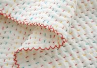 making an easy handmade ba quilt young house love Hand Sewn Quilt Patterns