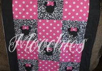 minnie mouse inspired quilt products disney quilt Elegant Minnie Mouse Baby Quilt