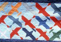 Modern airplane quilt pattern free quilt patterns Stylish Airplane Quilt Block Pattern