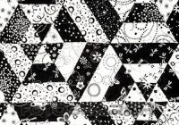 Modern black and white quilt pattern stock photograph New Black And White Quilt Patterns