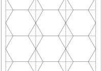 Modern download hexagon templates in various sizes english paper 9 Unique Hexagon Quilt Pattern Template
