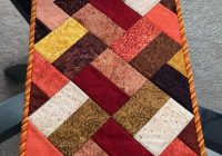 Modern fall table runner quilted table runner narrow table runner 10 Interesting Quilt Table Runner Patterns Inspirations