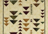 Modern folded flying geese from quick column quilts nancy zieman Modern Quilt Pattern Flying Geese