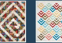 Modern free log cabin quilt pattern collection youll love 10 Interesting Curved Log Cabin Quilt Pattern