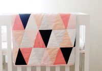 modern ombre bw triangle quilt tutorial pattern see Elegant Triangle Baby Quilt Pattern Inspirations
