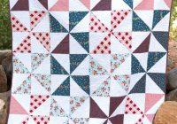Modern summer pinwheel quilt the polka dot chair Stylish Easy Pinwheel Quilt Pattern Gallery