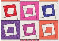 Modern wonky logs pdf quilt pattern digital download kustom kwilts 11 New Crazy Log Cabin Quilt Pattern