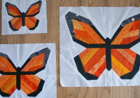 monarch butterflies come to life in this quilt block 10 Unique Butterfly Quilt Pattern Block