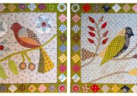 month 1 block 1 and 2 paradise of birds irene blanck Elegant Bird Of Paradise Quilt Pattern Gallery