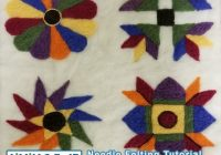 needle felting tutorial majestic wool quilt print Modern Felted Wool Quilt Patterns Gallery