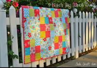 New 9 patch big block quilt tutorial 11 Unique Block In A Block Quilt Pattern