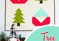 New easy pine tree quilt block how to finish your gnome 11 Unique Tree Quilt Block Pattern