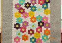 New from the blue chair modern grandmas flower garden quilt 9 Unique Flower Garden Quilt Pattern Inspirations