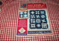 new joann fabric quilt block of the month august 1997 starry sky 372 5082 from the all star series New Joann Quilting Fabric Gallery