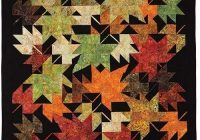 new look 6093 crafting and stiches quilt patterns fall Autumn Leaves Quilt Pattern Inspirations