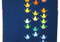 New paper cranes flying parrot quilts 10 Beautiful Origami Crane Quilt Pattern Inspirations