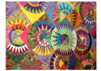 new york beauty and other quilts with a circular theme 12 New York Beauty Quilt Block Patterns Inspirations