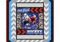 northcott all star hockey just add ice pattern Hockey Quilt Pattern