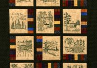 northwoods memories quilt pattern 12 redwork hand Stylish Hand Embroidered Quilt Patterns