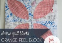orange peel quilt block template 3 sizes bluprint Elegant Orange Peel Quilt Pattern