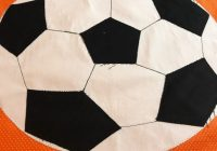 our last kids quilt round robin block jackie reeve Cool Soccer Ball Quilt Pattern Inspirations