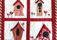 pattern for the birds bird house quilt faith and fabric Elegant Birdhouse Quilt Patterns Gallery