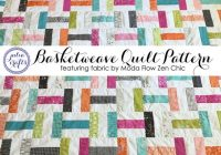 pdf basketweave quilt pattern tutorial featuring fabric moda flow zen chic instant download twin quilt jelly roll quilt Unique Basket Weave Quilt Pattern