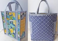 pdf pattern reversible quilted tote bag with 6 pockets and key hook quilted bag reversible tote bag tutorial handbag purse quilt pattern Interesting Quilted Tote Bag Pattern Gallery