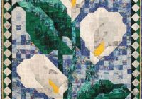 pdf quilt pattern calla lily mosaic art quilt pattern Interesting Mosaic Quilt Patterns Gallery