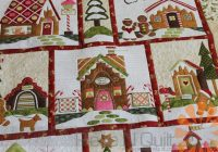 piece n quilt gingerbread village custom machine quilting Cool Gingerbread Quilt Pattern Gallery