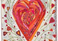 pin on hearts Modern Heart Applique Quilt Patterns