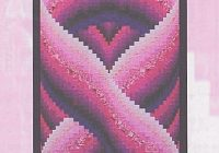 pink ribbon quilt patterns bargello quilt patterns Cool Cancer Ribbon Quilt Pattern Gallery