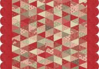 pomme de pin quilt pattern made with french generals fabric Modern French General Fabric Quilt Patterns Inspirations