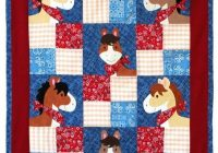 pony tales quilt pattern from willow bay designs adorable Modern Horse Baby Quilt Pattern Gallery